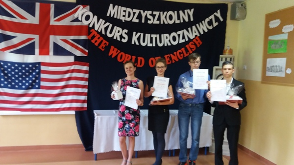 "I miejsce w konkursie ""The World of English"""